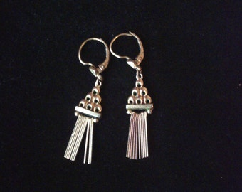 Vintage 14ct rolled gold drop dangle earrings K&L Kordes and Lichtenfels