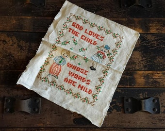 Sweet Vintage Cross Stitch Sampler