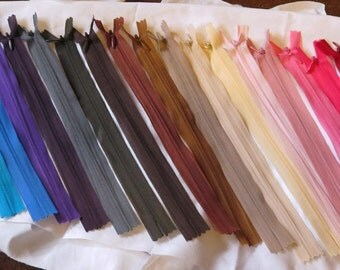 """1 x 9.5"""" / 24cm invisible zipper invisible zip nylon zip in choice of colours"""
