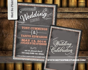Wedding Celebration Invitation - Double sided