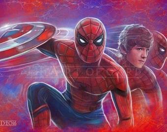 Spider-Man (Tom Holland) 11X17 Art Print