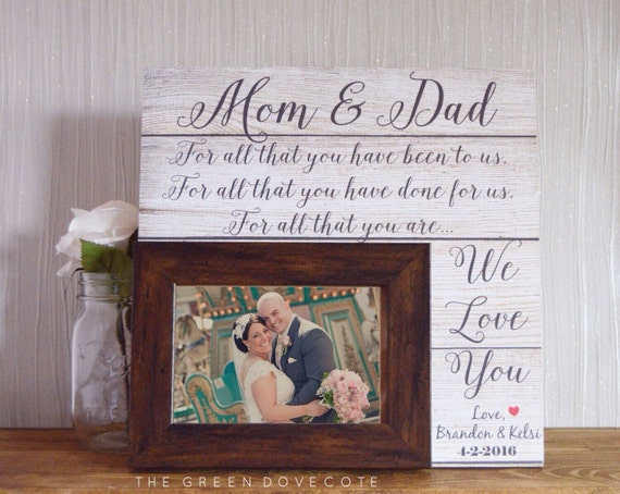 Personalized Wedding Gift For Mom : Wedding Gift For MomMother Of The Bride GiftParents Thank You ...