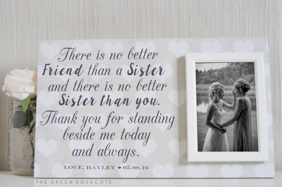 Wedding Gifts For Sister Bride : Bride GiftCustom Wedding Frame For SisterWedding Gift For Sister ...