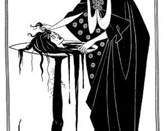 Salome By Aubrey Beardsley A3 / A2 Poster Re Print