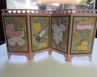 Handmade Baby Screen Card