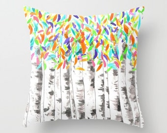 popular items for orange leaves pillow on etsy