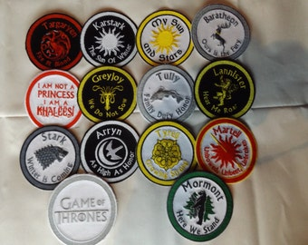 Game of Thrones Iron on / Sew on patch SET