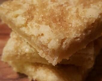 vanilla bourbon corn shortbread