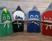 Bedtime Heroes Hooded Towel - PJ masks inspired