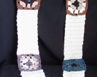 Granny square alpaca scarf