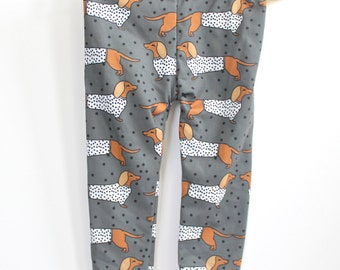 Baby and Toddler Leggings- Dachsunds/Dachsund leggings/Weiner Dog Leggings/Dog Leggings