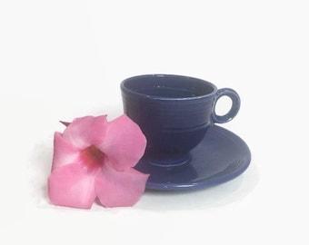 Cobalt Blue Fiestaware Tea Set Vintage