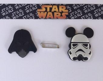 Stormtrooper and Darth Vader pin set