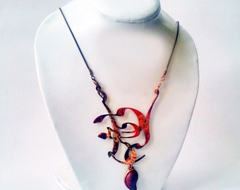 Persian calligraphy necklace