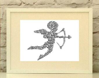 Cupid Personalised Art