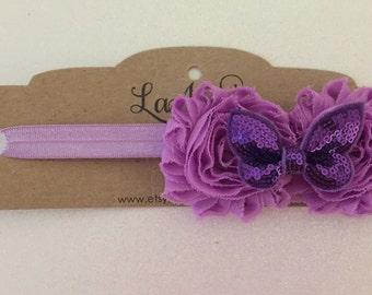 Purple Butterfly Headband