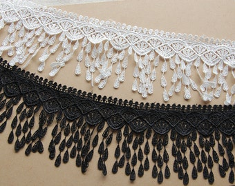 Fringe lace Trimming venice lace fabric trim for wedding decoration 8cm wide