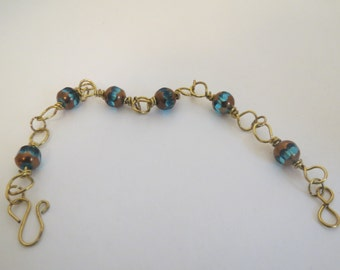 Wire Wrapped Beaded Bracelet