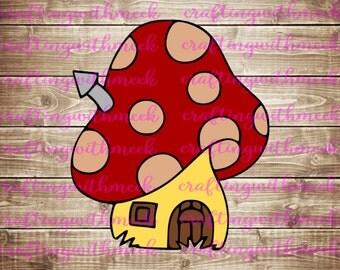 Fairy Mushroom House SVG