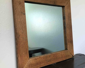 Reclaimed Oak Mirror Frame - Handmade - Made out of Reclaimed Oak