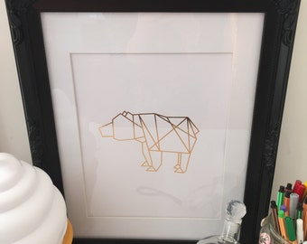 Bearese- A4 Gold Foil Print