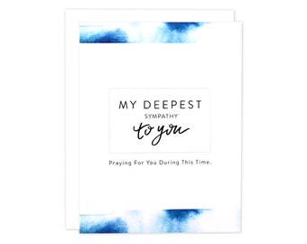 Sympathy Card, In Deepest Sympathy Card, Thinking Of You Card, Get Well Card, Here For You Card, Sorry For You Loss, Sympathy , Indigo Card