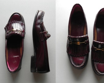 oxblood loafers \ bass-wegians \ fringe loafers