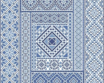 Spanish Diamonds PDF Chart in Cross Stitch ONLY by Northern Expressions Needlework
