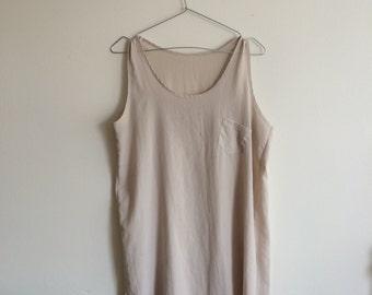 simple minimal semi sheer silky slip