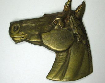 Vintage Brass Horse Head Stamping