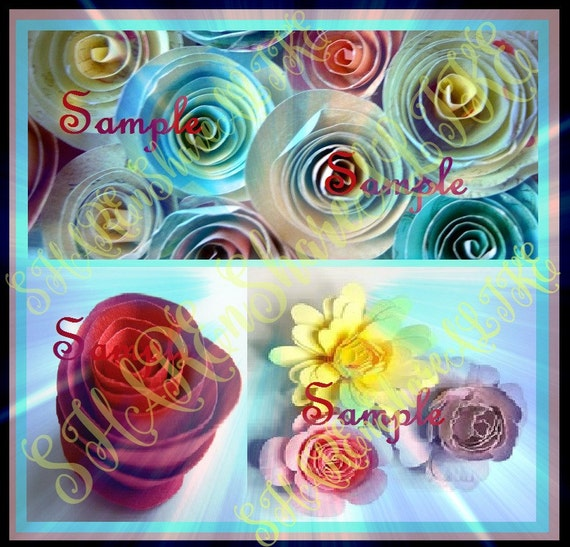 rolled roses svg flower daisy monogram circle by sharensharealike