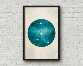 Cancer Art, Cancer Zodiac, Zodiac Print, Zodiac Art, Cancer Constellation, Wall Art Prints, Art Print Poster
