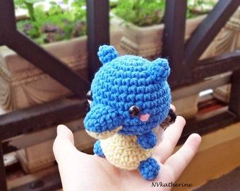 FREE SHIPPING Chibi Blastoise Made-to-order Crochet Amigurumi, Pokemon plush toy