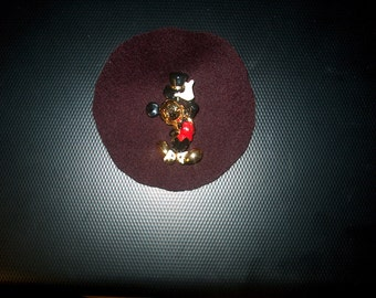 Vintage Mickey Mouse Brooch Pin Marked Disney Napier, Costume Jewelry