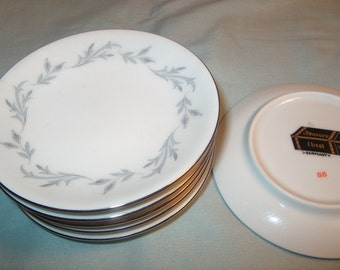 6 Vintage Butter Pats or small side Dishes, Treasure Chest Germany, Dinnerware