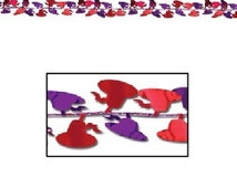 Gleam N Flex Red & Purple Hat Garland party supplies decorations and favors table decorations society banquet dance tea