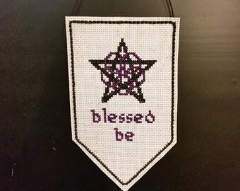 Wiccan, Pagan Pentacle, Pentagram Wall Hanger