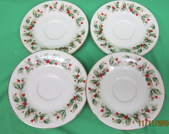 Royal Gallery Pattern 6283 Holly Saucers (4)
