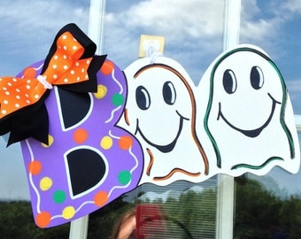 halloween door hanger, ghost door hanger, halloween wreath,halloween decoration