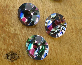 SS40 Ultra Rare IRIS Rainbow Swarovski Tri-color Rhinestones Chatons 8.5MM - Austrian R1 1st Quality MC Crystal -4pcs