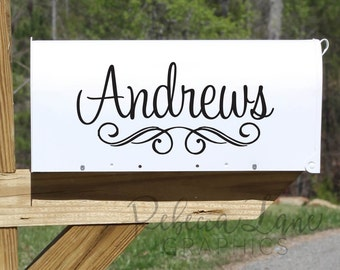Personalized Mailbox decal with Last name