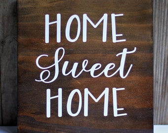 FREE SHIPPING Home Sweet Home Wood Sign
