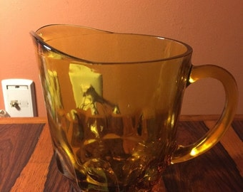 Onsale Vintage Amber Glass Pitcher