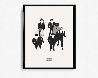 The Specials by The Specials Album Cover - Music Inspired Art - Two Tone - Music Posters