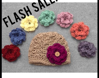 Crochet Baby Hat Crochet Toddler Hat Baby Girl Crochet Hat Baby Toddler Crochet Hat Flower Hat Change Flower Baby Hat Baby Beanie Infant Hat