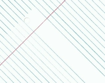 Paper Obsessed by Heather Givans for Windham Fabrics/ College Ruled Paper White
