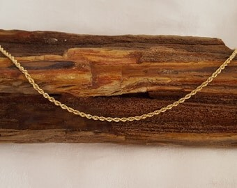 Hand woven Rope Chain w/Barrel Lock in 14k Yellow Gold- EB387