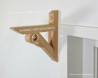 Single Shelf Support Bracket With A Closet Rod Setting