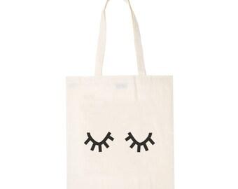 Tote bag eyes - organic cotton