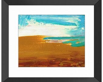 Dockweiler Beach Art Print, Abstract Art, Modern Art, Beach Painting, California, Wall Art, Home Decor, Beachscape, Sand, Minimalist